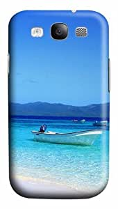 Boat and Beach PC Case Cover for Samsung Galaxy S3 and Samsung Galaxy I9300 3D