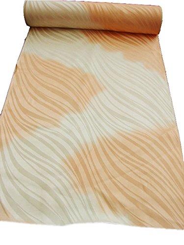 最小化するあえぎカテナ博多着物市場 きものしらゆり 訪問着 綸子地 長襦袢 反物 正絹 照柿色 ぼかし地