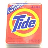 Tide Travel Sink Packets (9 Pieces) 0.51 Ounce Clipstrip (15ml)
