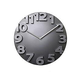 【New upgrade】Besplore 3d Big Digital Wall Clock,Modern Contemporary Home Office Decor,Black