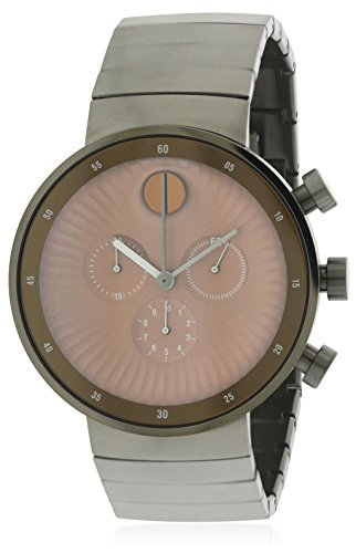 Movado Edge Copper Tone Dial Stainless Steel Men's Watch 3680024