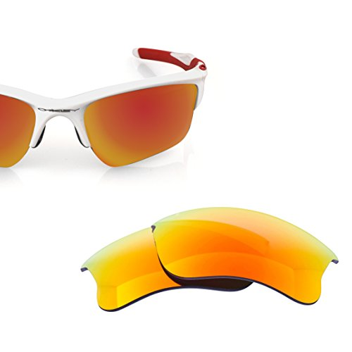 LenzFlip Replacement Lenses for Oakley HALF JACKET 2.0 XL Sunglass - Fire Red Polarized - Change Oakley Lenses