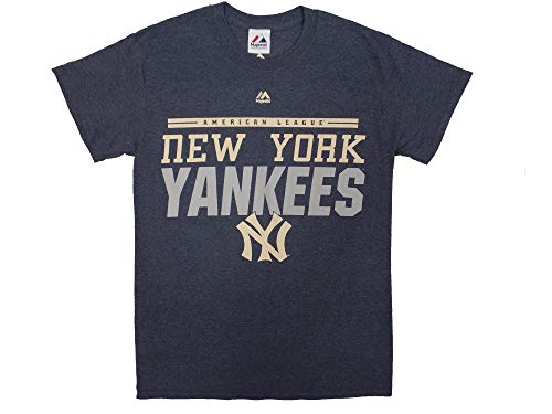 Majestic New York Yankees Cooperstown 27X Champs Call The Bullpen Navy T-Shirt Small (Cooperstown Team Logo T-shirt)