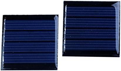D DOLITY 2 Stück Polykristalline Solarpanel Solarmodul Solarzelle - 2V