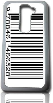 carcasa funda para movil compatible con lg g2 g 2 codigo de barras case cover: Amazon.es: Electrónica