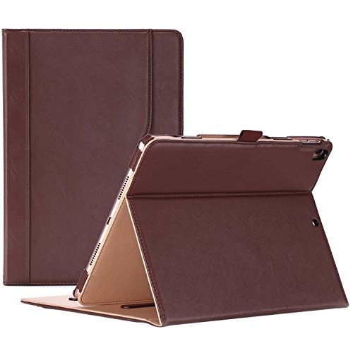 ProCase iPad Pro 10.5 Case - Vintage Stand Folio Case Cover for Apple iPad Pro 10.5 Inch 2017, with Multiple Viewing Angles, Apple Pencil Holder -Brown