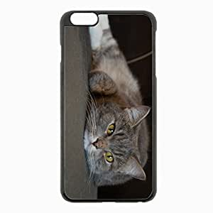 iPhone 6 Plus Black Hardshell Case 5.5inch - fluffy muzzle Desin Images Protector Back Cover