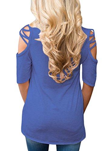 HOTAPEI Womens Shirts Shoulder Blouses