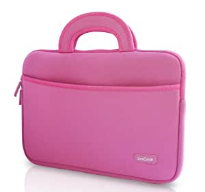 Chromebook Case, amCase 11.6 to 12 inch Sleeve/Case for Acer Chromebook 11, C720, C720P, C740/ HP Stream 11 / Samsung Chromebook 2 /Notebook Laptop Protective Neoprene with Handle (PINK)