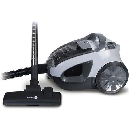 Fagor VCE-181CP - Aspirador sin bolsa Vce181Cp, 1800W, 360W, filtro hepa, 7 niveles de filtrado (negro/gris)
