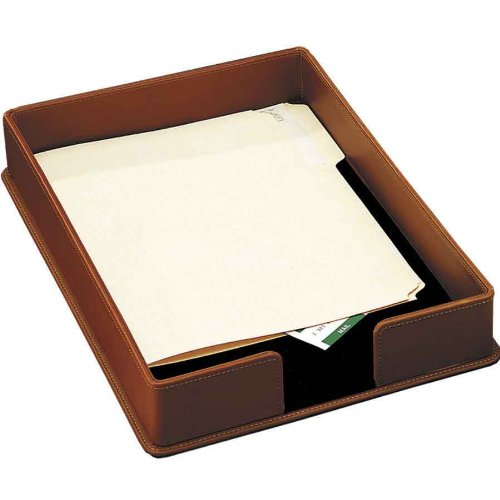 Contemporary Leather Letter - Buddy Products Milano Collection Leather Legal Tray, Brown, 9250-27