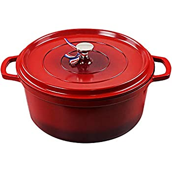 Cookware Cast Iron Aluminum Dutch Oven with Lid, Non Stick Round Casserole Dish, Lightweight,Moving it around easy,For all Heat Source&Induction cooker,Quick heating,Oven safe up to 450°F, 4.2 Quart Pot