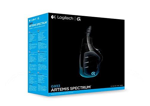 aaebdf0e1b2 Logitech G933 Wireless 7.1 Surrond Gaming Headset - Black, 981-000599:  Amazon.ae: ayumiwan