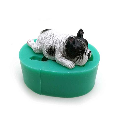 Star Trade Inc - Dogs shape silicone fondant cake decorating mold Corgi Bulldog chocolate polymer clay mould animal cake tool for bakeware 59 x 43x 25 mm ()
