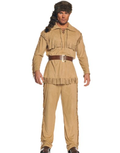 Underwraps Men's Frontier Man, Tan/Brown, One Size -