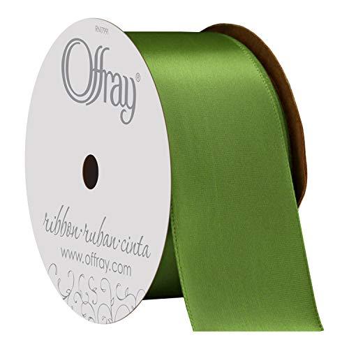 - Offray 475928 Single Face Satin Craft Ribbon, 1 1/2-Inch x 12-Feet, Kiwi