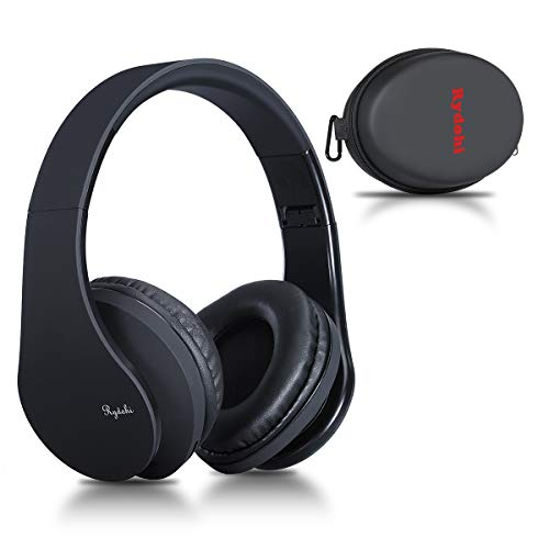 Bluetooth Headphones Over Ear, Rydohi Wireless Stereo Headset with Deep Bass, Foldable and Lightweight, Wired and…