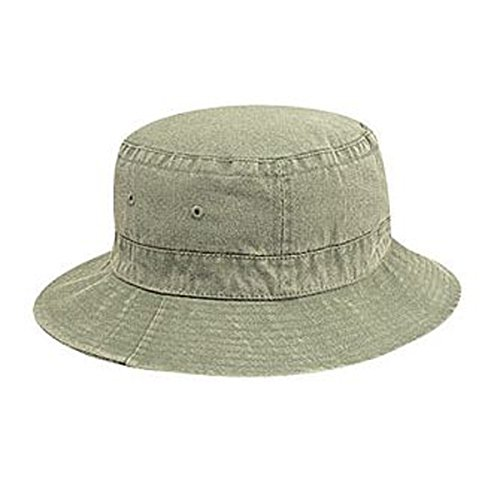 Otto Caps Washed Pigment Dyed Cotton Twill Solid Color Bucket Hats (Twill Solid Dyed Cap Pigment)