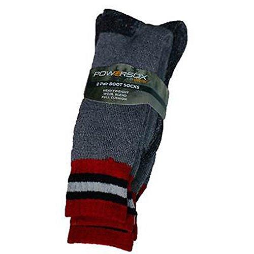 Powersox BY Gold Toe Men's Heavyweight Wool Boot Socks Heavyweight 2 pairs