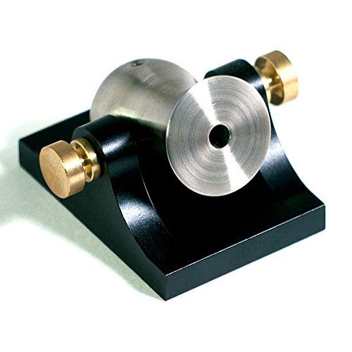 Mini Desktop Cannon Pocket Artillery - Black w/ Brass Hardware