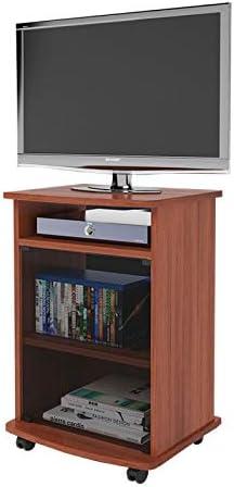 WEBMARKETPOINT Carrello Porta TV Mobile Color Cerezo con Vitrina cm 47 x 40 x H 73: Amazon.es: Hogar