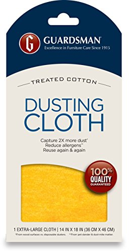 (Guardsman Wood Furniture Dusting Cloths - 1 Pre-Treated Cloth - Captures 2x The Dust of a Regular Cloth, Specially Treated, No Sprays or Odors - 462100)