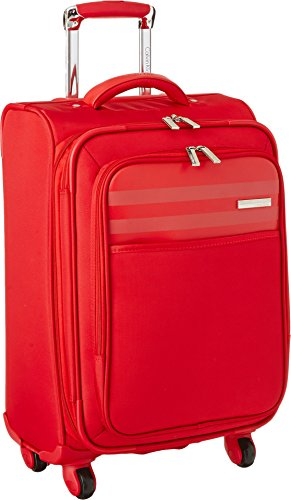 Calvin Klein Greenwich 2.0 21 Inch Upright Carry-On Suitcase, Red, One Size by Calvin Klein