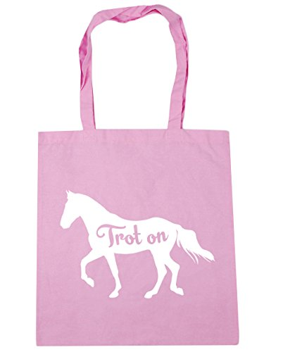 10 HippoWarehouse Beach 42cm Horse Trot On Gym x38cm Tote Bag Classic litres Shopping Pink Riding wPwUqFr