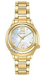 Citizen Eco-Drive EM0512-58D Ladies CITIZEN L SUNRISE LS Gold-Tone Diamond MOP Watch