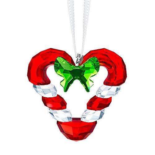 Swarovski Crystal Candy Cane Heart Ornament
