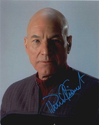 PATRICK STEWART as Captain Jean-Luc Picard - Star Trek: TNG GENUINE AUTOGRAPH