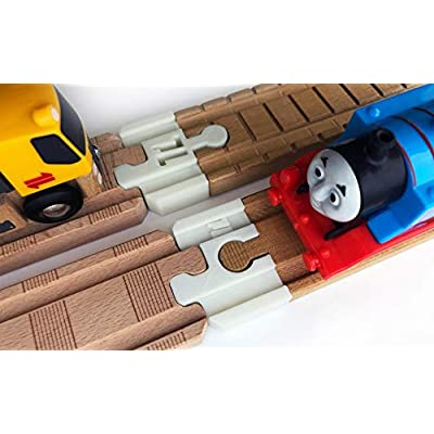Thomas Wood 2020 Train Track Adapters to Wooden Railway for BRIO, Melissa & Doug 2pc (NiteBrite): Toys & Games