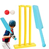 Kids Cricket Sets Gift Sports Game Cricket Contents Bats,2 Ball, 1 Stumps, Bail Plastic