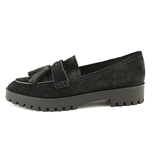 On Platform Slip Loafer Black Tassel Giada Women's Spiga Via qawxgf