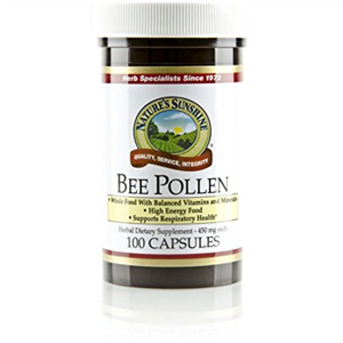 Naturessunshine Bee Pollen Herbal Dietary Supplement 100 Capsules (Pack of 2) For Sale