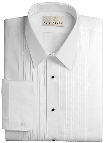 Women's Formal Pleated Tuxedo Shirt White - 1/4