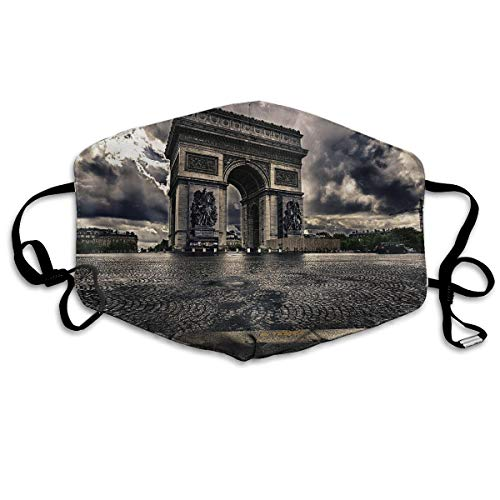 - Hongao Anti Dust Pollution Mask Fantasy Triumphal Arch Reusable Washable Earloop Face Mouth Mask for Men Women