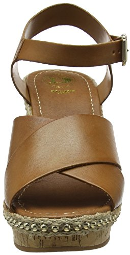 Dune Damen Karena Riemchensandalen Brown (Tan Leather)