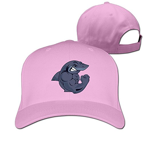 AOLM Fashion Adult Strong Shark Hip Hop Hats Pink