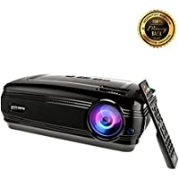 Video Projector, Sourcingbay HD 1080P 3200 Lumens Efficiency Multimedia Home Cinema Theater LED Projectors Support Xbox VGA USB Speaker HDMI for TV Laptop Game SD iPad iPhone Andriod Smartphone