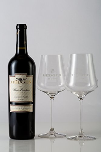 Hedges Family Estate Wisdom of Red Mountain Gift Set with 2 Gabriel Glas Glasses, 1 x 750 mL