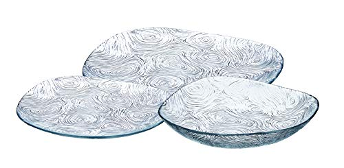 - Safdie & Co. Dinnerset Premium Dinnerware Set, 18Pcs, Transparent