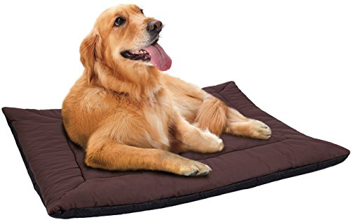 Paws & Pals 25 inches x 37 inches Self Warming Pet Bed Cushion Pad Dog Cat Cage Kennel Crate Soft Cozy Mat - Brown