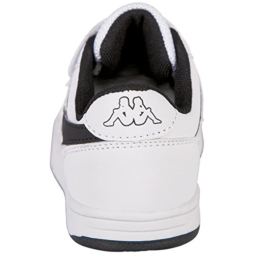 Kappa Unisex-Kinder Trooper Light Ice Kids Sneaker Weiß (1011 White/Black)