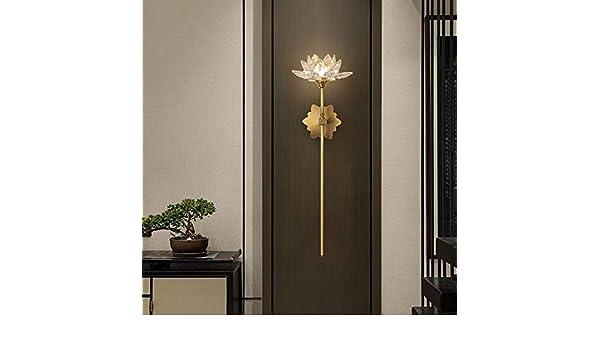 Luces de pared para sala de estar Nordic la pared del dormitorio de la lámpara Hotel Crystal lámpara de pared, lámpara de pared decoración de la pared (Color : Gold): Amazon.es: Iluminación
