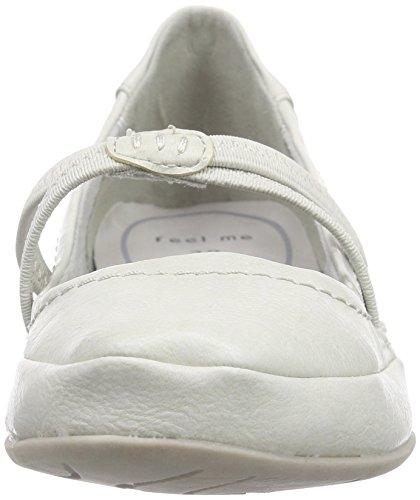 Marco Tozzi 24224 - Bailarinas Mujer Blanco - Weiß (OFFWHITE ANTIC 193)