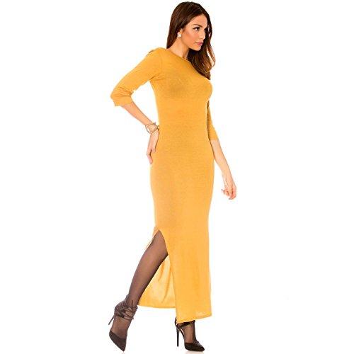 Miss Wear Line Damen Kleid beige beige