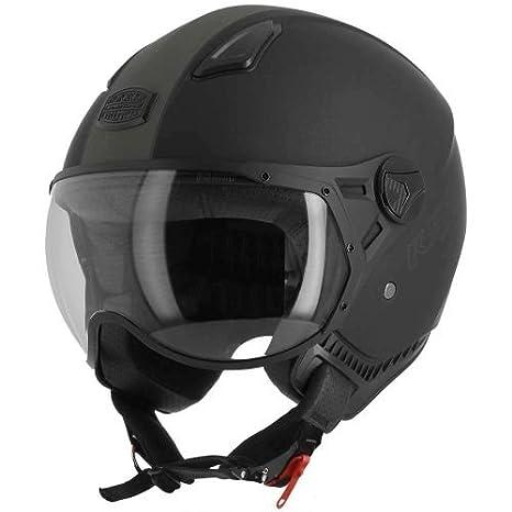 Casque de moto compact Astone Helmets Casque de moto l/éger Casque de scooter  -matt black gunmetal Casque jet KSR 2  graphic