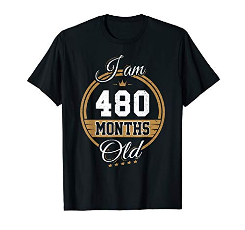 Funny Vintage 40th Birthday T-Shirt I'm 480 Months Old Gift]()