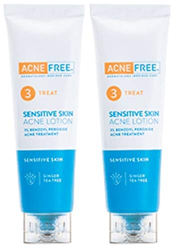 Acnefree Sensitive Repair Lotion Value Pack 2 Tubes X 2 Oz = 4 Oz (50% Stonger Than Sensitive Terminator - Still Gentle)